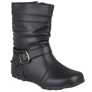Slouchy Accent Mid-calf Boots