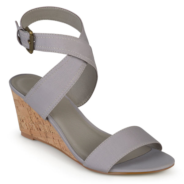 Canvas Ankle Strap Wedges