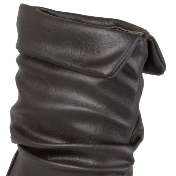 Round Toe Slouch Boots