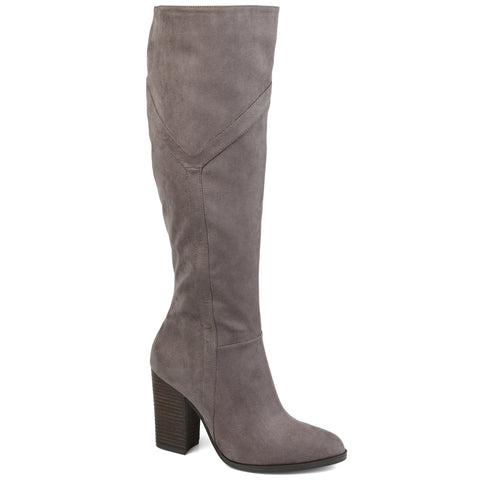 Extra Wide Calf Detailed Knee High Boot