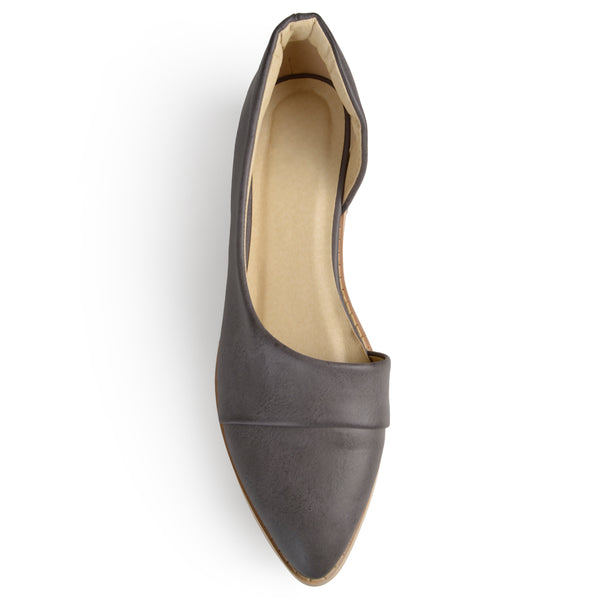D'Orsay Pointed Toe Flats