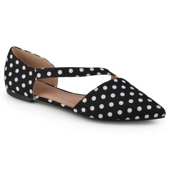 Pointed Toe Cross Strap Flats