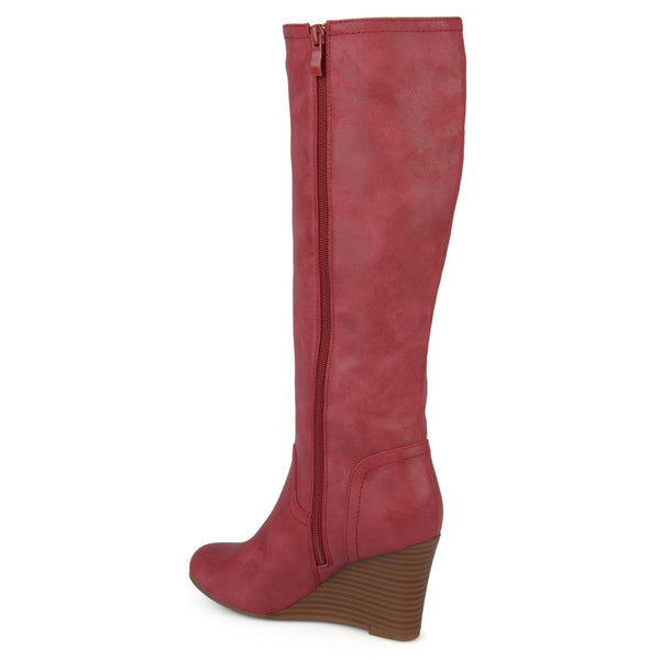 Classic Knee-High Wedge Wide Calf Boot