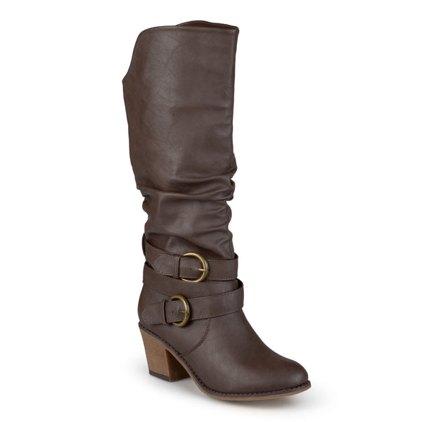 Slouchy Buckle Heeled Boot