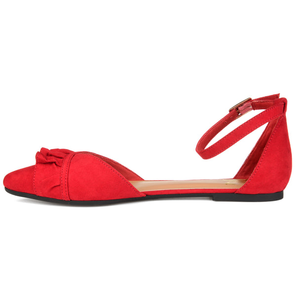 Ruffle Ankle Strap Flat