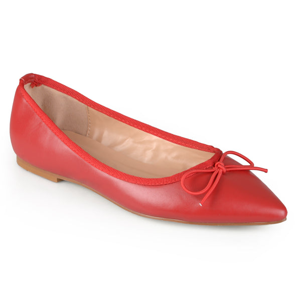 Pointed Toe Bow Ballet Flats