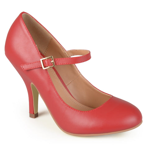 Matte Finish Mary Jane Pumps