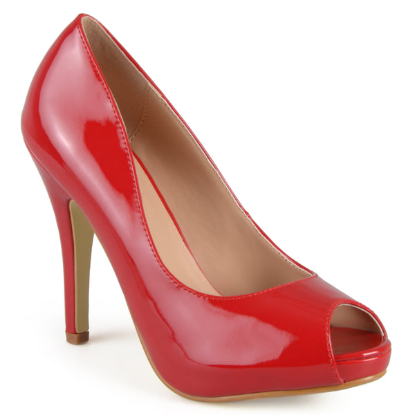 Patent Peep-toe Pumps