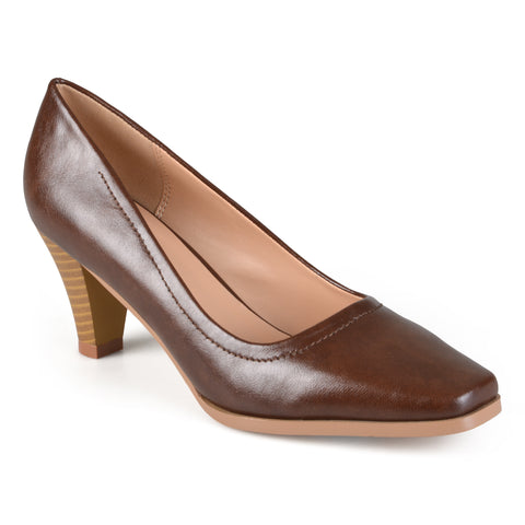 Classic Stacked Heel Pumps