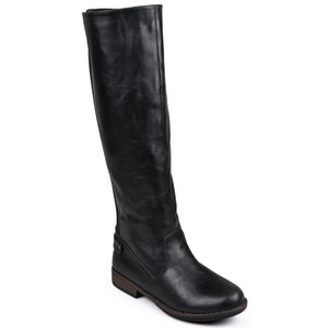 Wide Calf Stretch Knee-High Riding Boot