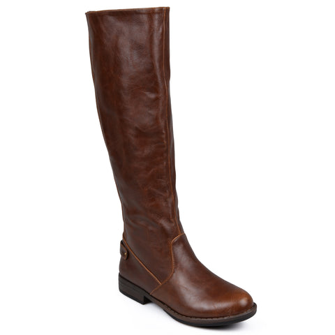 Stretch Knee-High Wide-Calf Riding Boot