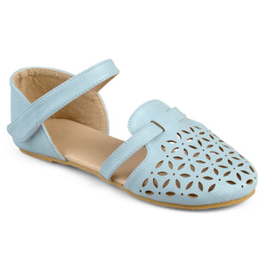 Girl Laser Cut Multi Strap Flats