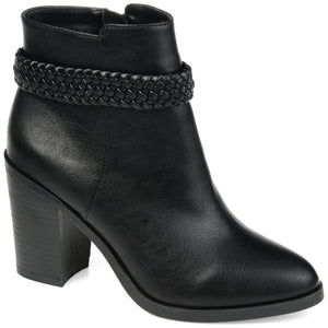 Classic Braid Heeled Bootie