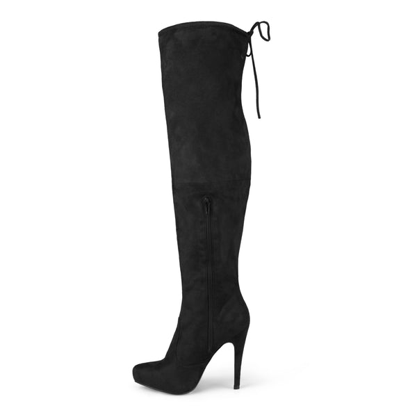 Wide Calf Over-The-Knee High Heel Boots