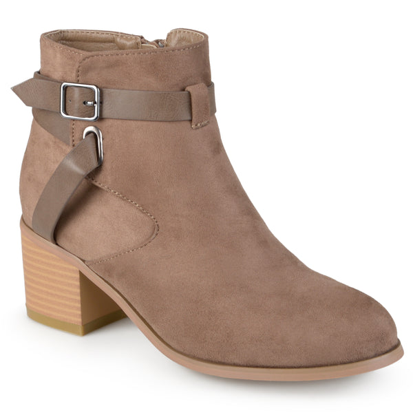 Round Toe Two-tone Booties