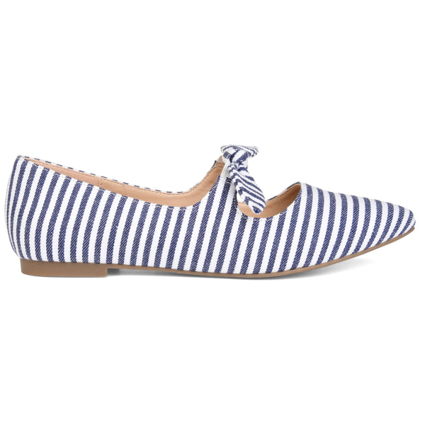 Stretchy Almond Toe Bow Flat