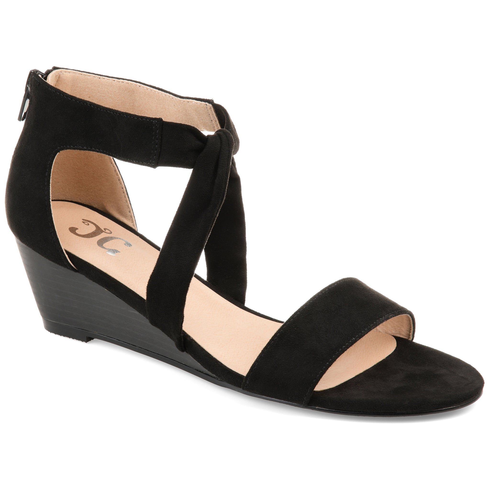 Twist Ankle Strap Wedge