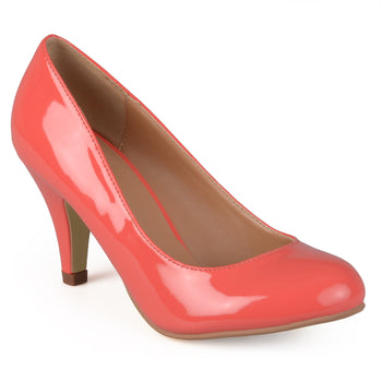 Round Toe Patent Pumps