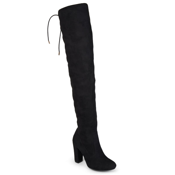 Wide Calf Faux Suede Over-The-Knee Boots