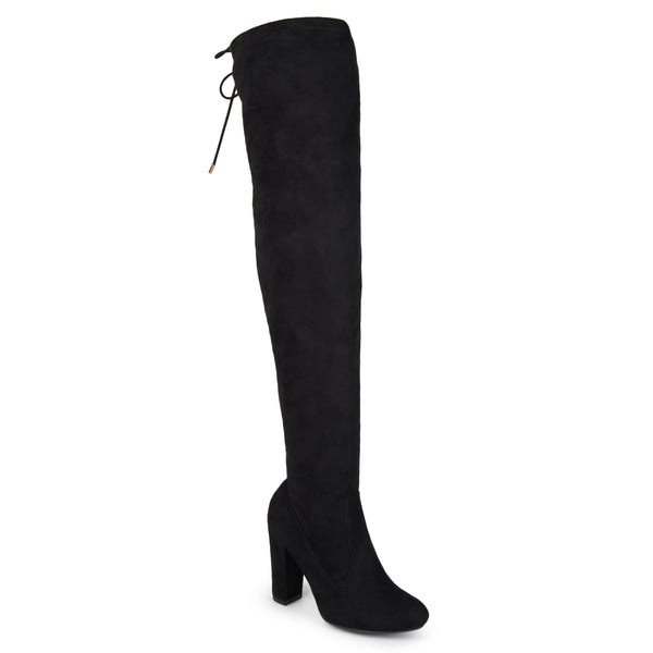 Faux Suede Over-The-Knee Wide Calf Boot