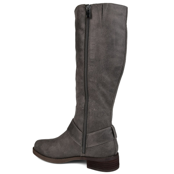 Weave Detail Riding Boot