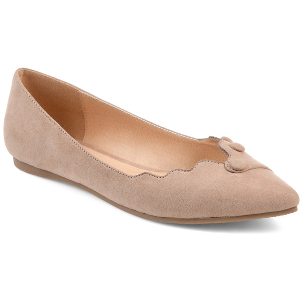 Scalloped Button Flat