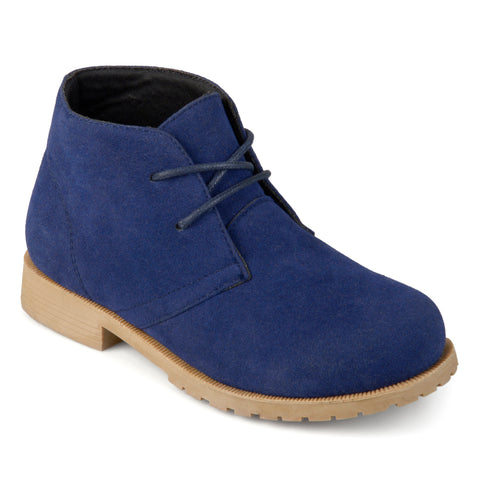 Lace-up Faux Suede Chukka Boots