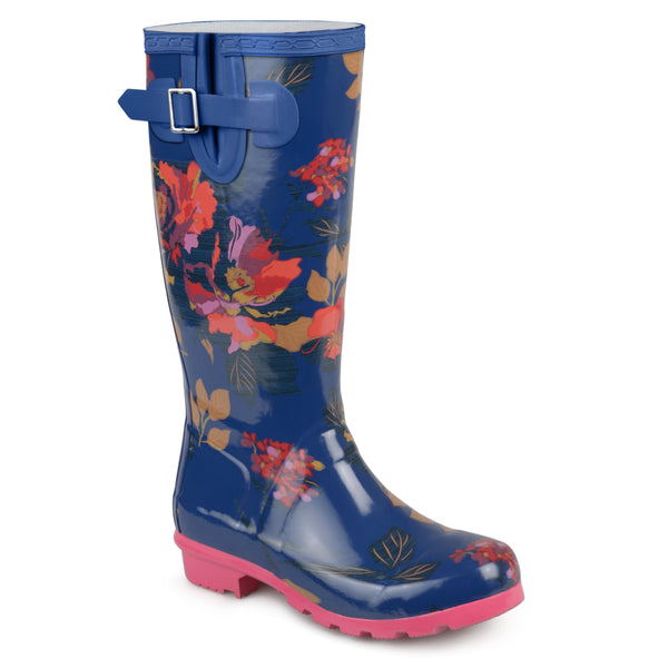 Patterned Rubber Rain Boots