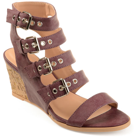 Open Toe Buckle Gladiator Wedge