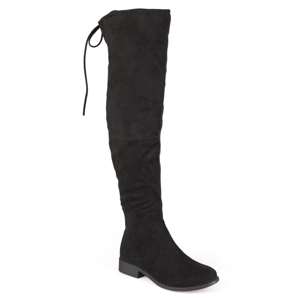 Over-the-knee Faux Suede Boots