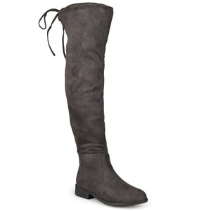 Wide Calf Over-The-Knee Faux Suede Boots
