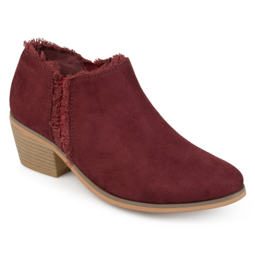 Fringe Faux Suede Ankle Booties