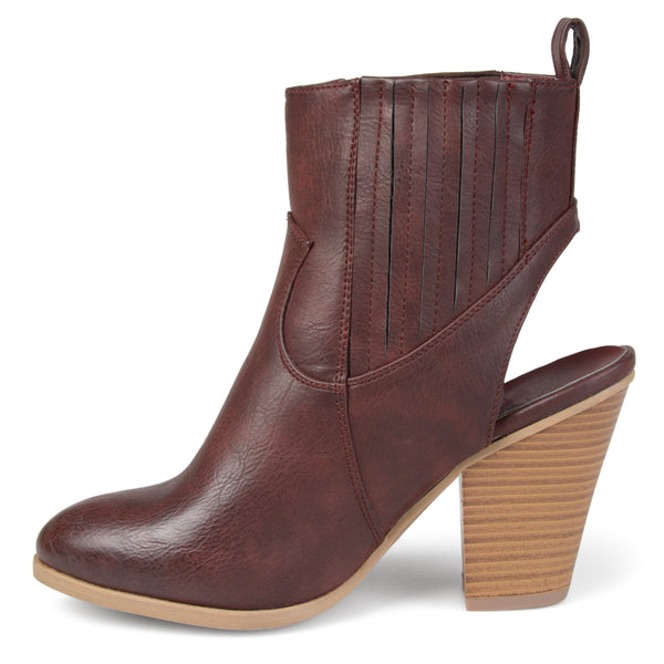 Slingback Western Stacked Wood Heel Booties