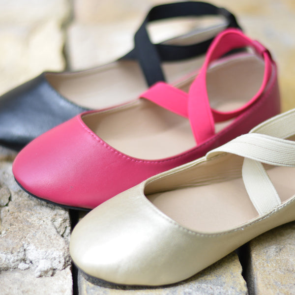 Ballet Wrap Close Toe Flats