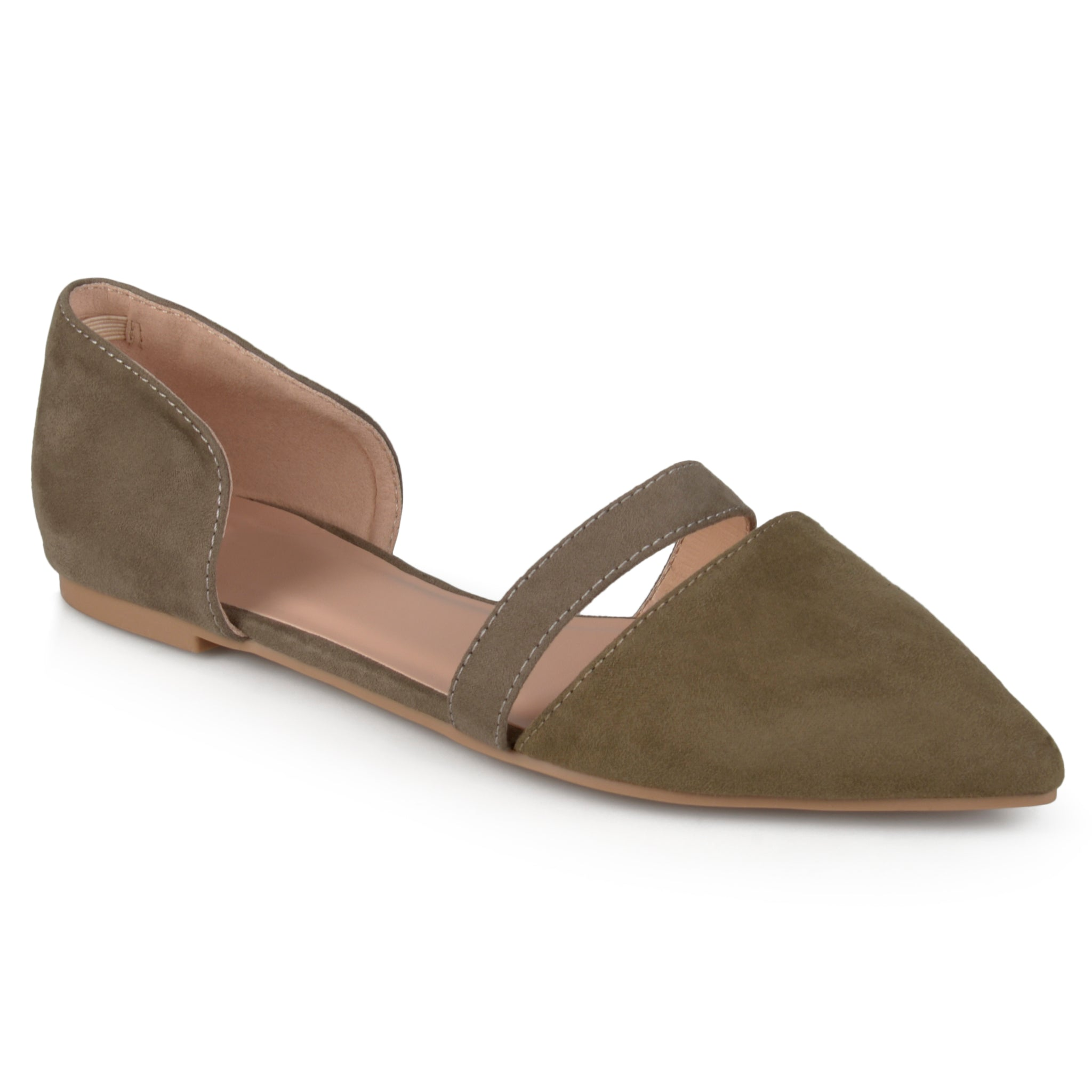 Pointed Toe Faux Suede Flat