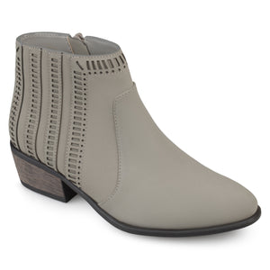 Almond Toe Geometric Cut-out Booties
