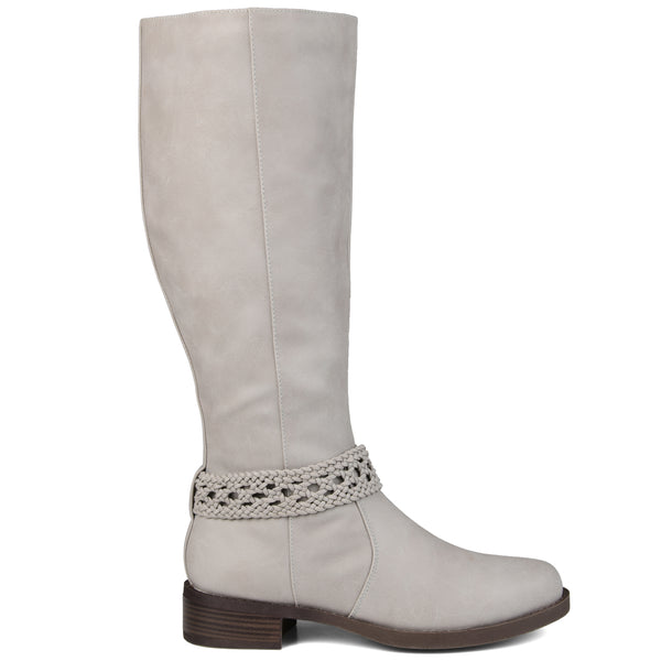 Braided Strap Riding Boot