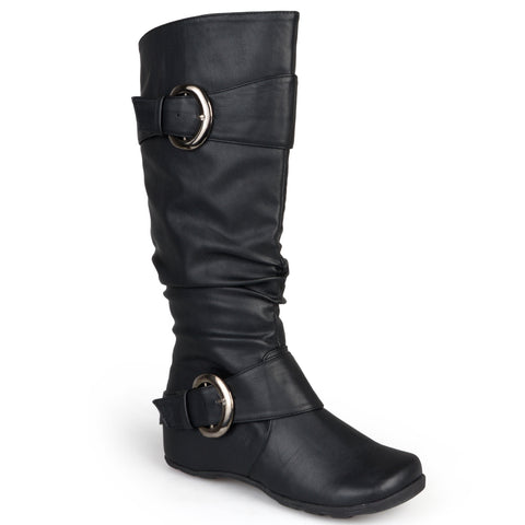 Xwide Calf Slouch Buckle Knee-High Boot