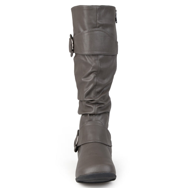 Slouch Buckle Knee-High Extra Wide Calf Boot