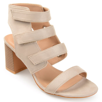 Strappy Cut-out Heel Caged Sandals