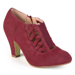 Vintage Criss-Cross Heeled Bootie
