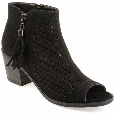 Laser Cut Tassle Booties