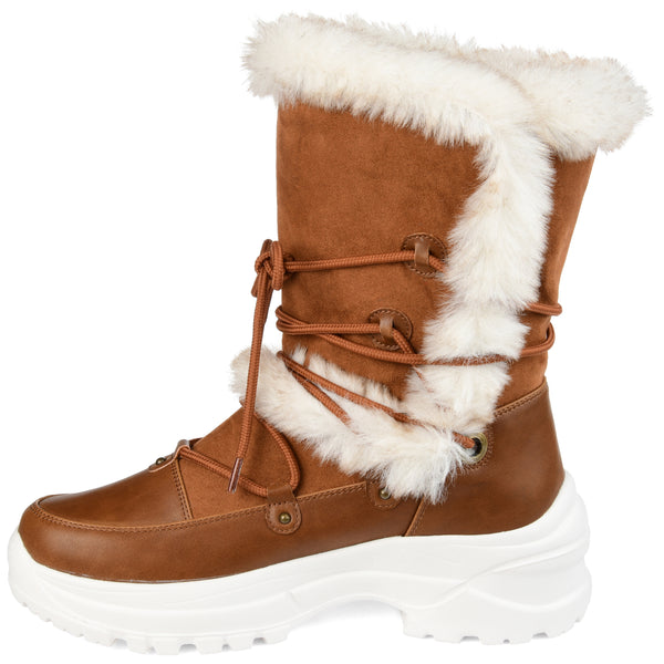 Lightweight Fashion Faux Fur Trim Winter Boots