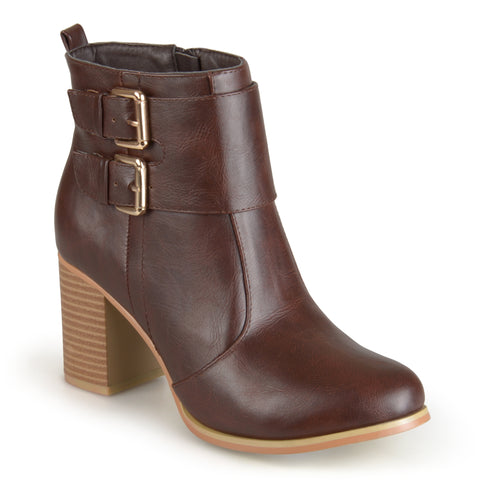 Heeled Buckle Bootie