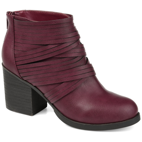 Accent Straps Heeled Bootie