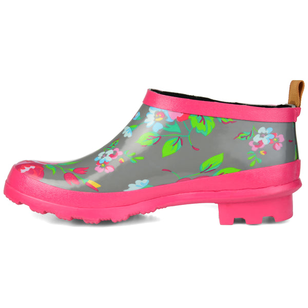 Patterned Rubber Ankle Rainboot