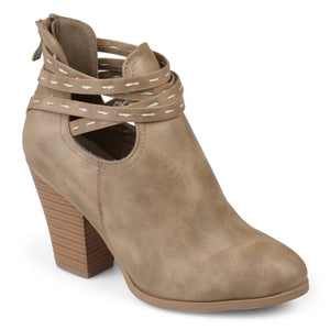 Stacked Heel Strappy Booties