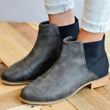 Two-tone Gore Back Booties
