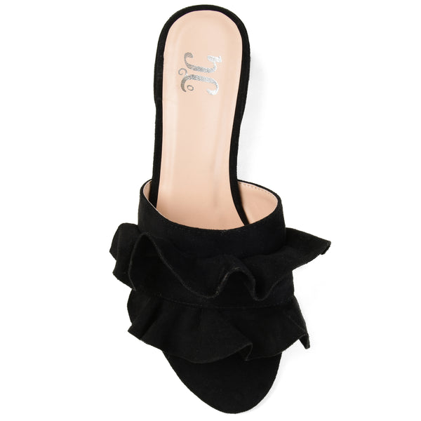 Open Toe Ruffle Slide