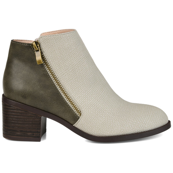 Textured Two-tone Bootie